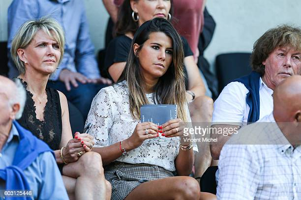 Karine Ferri wife of Yoann Gourcuff during the french Ligue 1 match between Stade Rennais and SM Caen at Stade de la Route de Lorient on September 11...