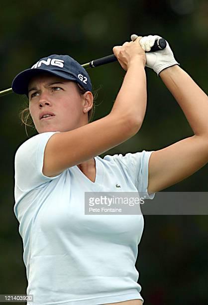 Karine Icher during practice day at the Weetabix Women's British Open at Sunningdale Golf Club July 27 2004