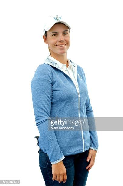 Karine Icher of Europe poses for a portrait following the announcement of the 2017 Solheim Cup Europe and USA teams at Kingsbarns Golf Links on...