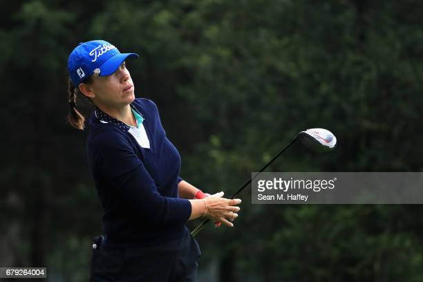Karine Icher of France of hits off the second tee during the second round of the Citibanamex Lorena Ochoa Match Play Presented by Aeromexico and...