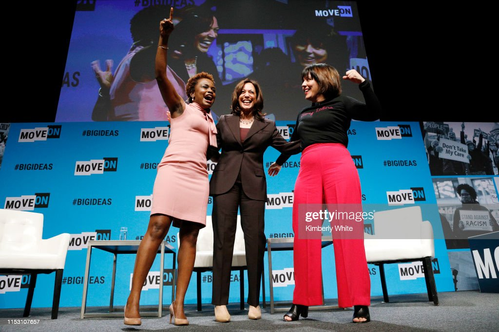 Karine Jean Pierre Kamala Harris And Stephanie Valencia Speak News Photo Getty Images