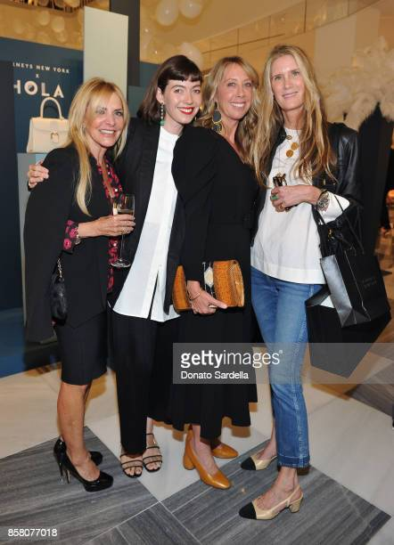 Karine Joret Cory Hillman HOLA Chair Committee Eve Gerber and Lisa Davis attend a Cocktail Event in support of HOLA Heart of Los Angeles hosted by...