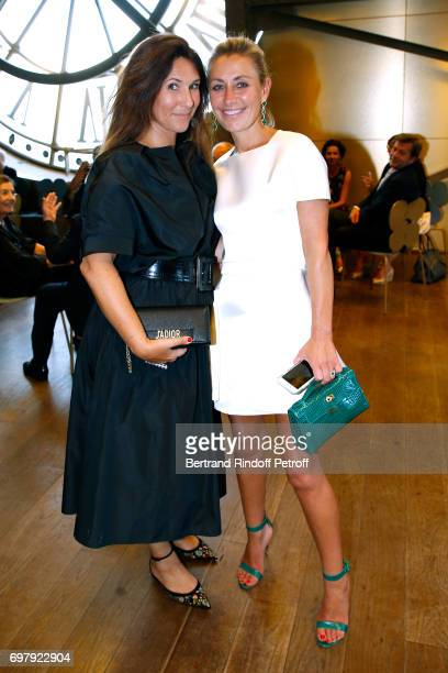 Karine Journo and Claire DurocDanner attend the Societe ses Amis du Musee d'Orsay Dinner Party at Musee d'Orsay on June 19 2017 in Paris France