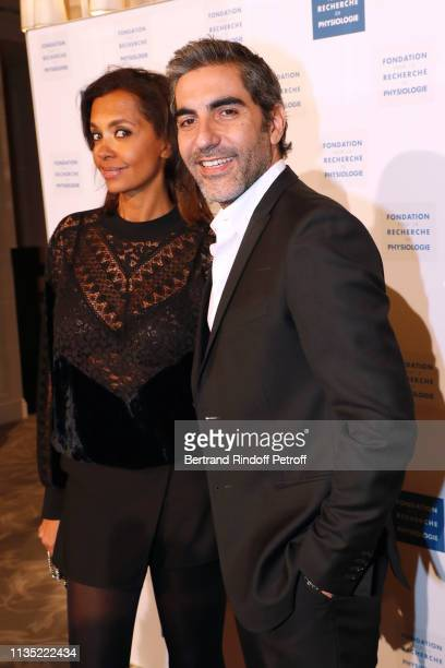 Karine Le Marchand and Ary Abittan attend the Stethos d'Or 2019 Charity Gala of the Foundation for Physiological Research at on March 11 2019 in...