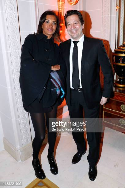 Karine Le Marchand and Laurent Gerra attend the Stethos d'Or 2019 Charity Gala of the Foundation for Physiological Research at on March 11 2019 in...