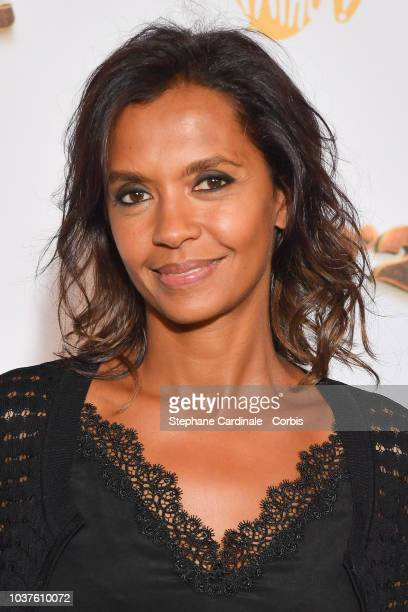 Karine Le Marchand attends Alad'2 Paris Premiere at Le Grand Rex on September 21 2018 in Paris France