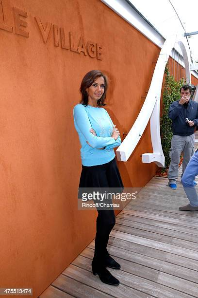 Karine Le Marchand attends the 2015 Roland Garros French Tennis Open Day Nine on June 1 2015 in Paris France