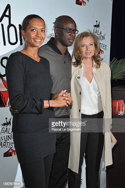 Karine Le Marchand Lilian Thuram and Valerie Trierweiler attend the 51st Gala de L'Union Des Artistes at Cirque Alexis Gruss on November 12 2012 in...