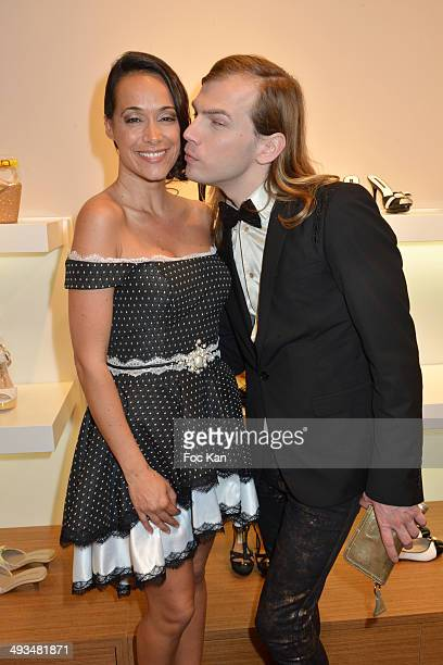 Karine Lima and Christophe Guillarme attend the Carmen Steffens Luxury Leather Shop Cocktail Party during the 67th Annual Cannes Film Festival on May...