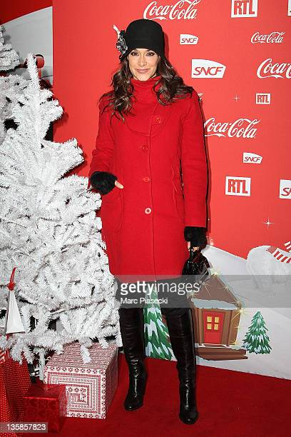 Karine Lima attends the 'Association Petits Princes' And Coca Cola Red Train Launch at Gare de L'Est on December 15 2011 in Paris France