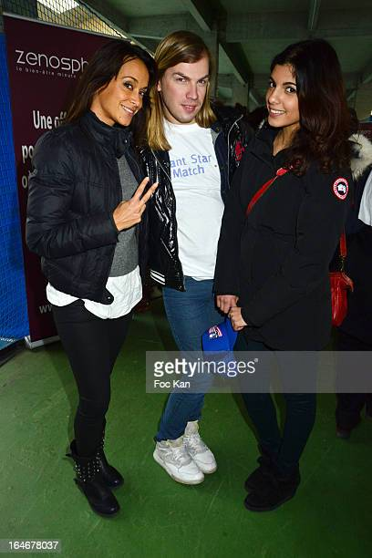 Karine Lima Christophe Guillarme and Donia Eden attend the 'Enfant Star Match' Auction Cocktail At Tennis Club De Paris on March 25 2013 in Paris...