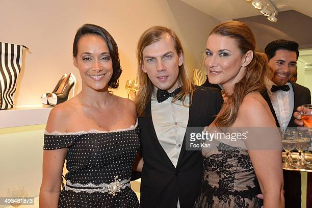 Karine Lima, Christophe Guillarme and Marion Dumas attend the Carmen Steffens Luxury Leather Shop Cocktail Party during the 67th Annual Cannes Film...