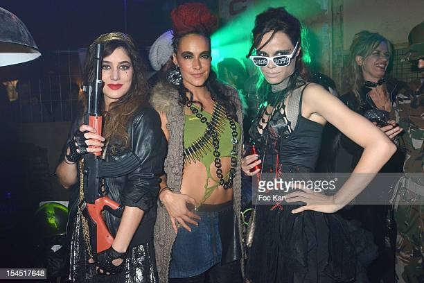 Karine Lima Fanny Valette and Melissa Mars attend the 'Chaos 2099' Apocalypse Costume Ball hosted by Les Ambassadeurs In Entrepots Babcock on October...