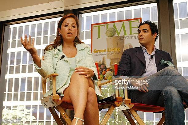 Karine Ohana and Zac Posen attend The Art of Design TIME Style Design Panel Discussion at Luce on June 13 2006 in New York City