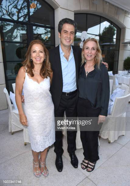 Karine Ohana Ariel Ohana and Susan Rockefeller attend Ohana Co LA Event Brands With Mission at The Peninsula Beverly Hills on August 23 2018 in...