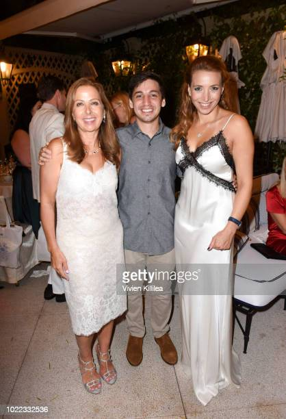 Karine Ohana Ben Gabbay and Cécile Ohana attend Ohana Co LA Event Brands With Mission at The Peninsula Beverly Hills on August 23 2018 in Beverly...