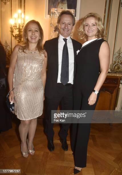 """Karine Ohana, CEO Franck Marilly from Shiseido and Katia Solotsinskaya attend the Cocktail """"Karine Ohana And Co"""" Hosted by Katia Solotsinskaya,..."""