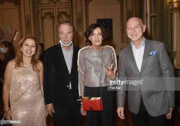 "Karine Ohana, Jean Michel Renck, Annie Renck and Robert Immele attend the Cocktail ""Karine Ohana And Co"" Hosted by Katia Solotsinskaya, Karine Ohana..."