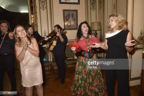 "Karine Ohana, Katia Solotsinskaya and guests attend the Cocktail ""Karine Ohana And Co"" Hosted by Katia Solotsinskaya, Karine Ohana and Mikhail..."