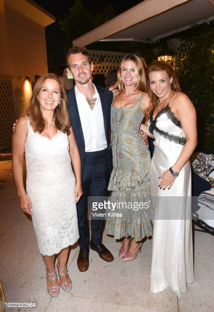 Karine Ohana Kristopher Brock Laura Vassar and Cécile Ohana attend Ohana Co LA Event Brands With Mission at The Peninsula Beverly Hills on August 23...