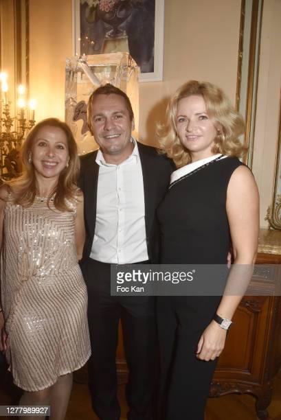 "Karine Ohana, Mikhail Makarov and Katia Solotsinskaya attends the Cocktail ""Karine Ohana And Co"" Hosted by Katia Solotsinskaya, Karine Ohana and..."