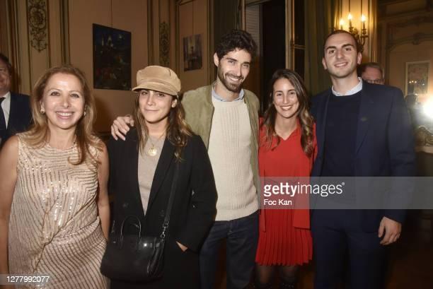 "Karine Ohana, Natacha Benabou, Octave Habertn, Mathilde Romano And Louis Darmonie attends the Cocktail ""Karine Ohana And Co"" Hosted by Katia..."