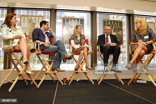 Karine Ohana Zac Posen Tory Burch Michael Silverstein and Kate Betts attend The Art of Design TIME Style Design Panel Discussion at Luce on June 13...