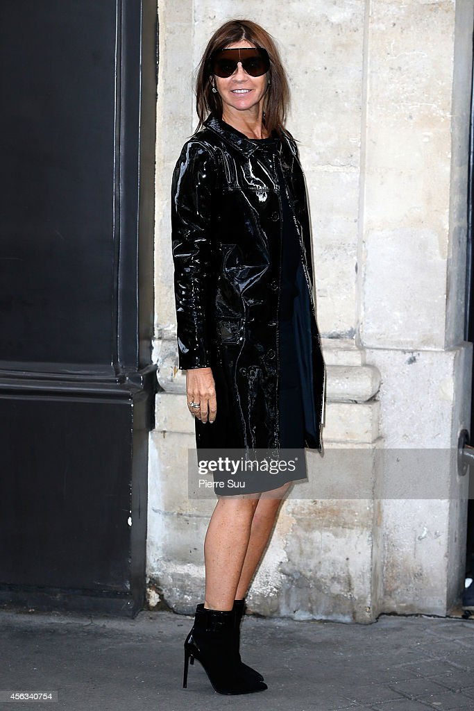 Karine Roitfeld Attends the Sonia Rykiel show as part of the Paris Fashion Week Womenswear Spring/Summer 2015 on September 29, 2014 in Paris, France.
