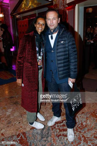 Karine Silla and Vincent Perez attend 'Depardieu Chante Barbara' at Le Cirque d'Hiver on November 7 2017 in Paris France