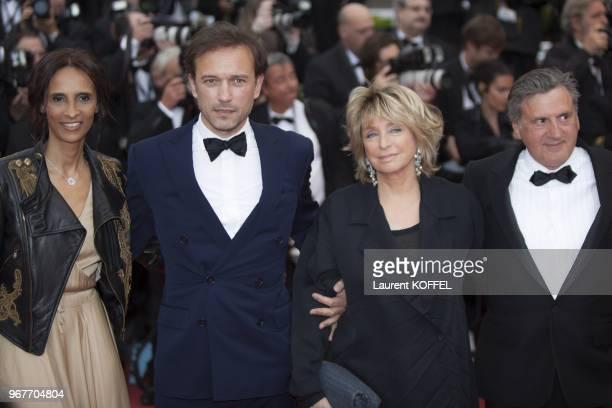Karine Silla Perez Vincent Perez Daniele Thompson and Daniel Auteuil attend 'Inside Llewyn Davis' Premiere during the 66th Annual Cannes Film...