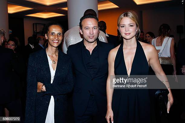 Karine Silla Vincent Perez and Virginie Efira attend the Audemars Piguet Rue Royale Boutique Opening on May 26 2016 in Paris France