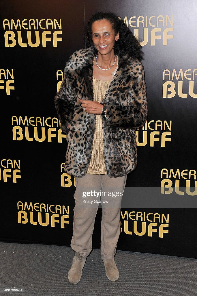 Karine Sylla attends the 'American Bluff' Paris Premiere at Cinema UGC Normandie on February 3, 2014 in Paris, France.