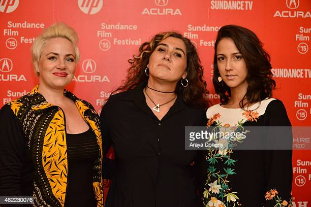 Karine Teles Anna Muylaert and Camila Mardila attend 'The Second Mother' Premiere 2015 Sundance Film Festival during the 2015 Sundance Film Festival...