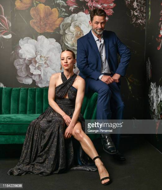 Karine Vanasse and Billy Campbell pose at the CTV Upfront Portrait Studio at Sony Centre For Performing Arts on June 06 2019 in Toronto Canada