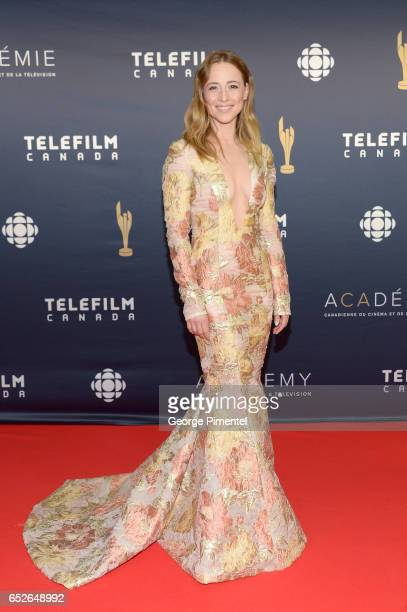 Karine Vanasse attends 2017 Canadian Screen Awards at Sony Centre For Performing Arts on March 12 2017 in Toronto Canada