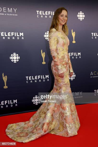 Karine Vanasse attends the Academy of Canadian Cinema Television's 2017 Canadian Screen Awards at the Sony Centre for Performing Arts on March 12...