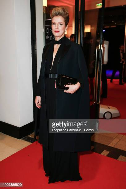 Karine Viard arrives at the Cesar Film Awards 2020 Ceremony At Salle Pleyel In Paris on February 28, 2020 in Paris, France.