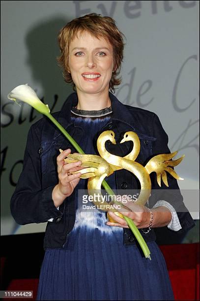 Karine Viard at Cabourg Romantic Film Festival in France on June 12 2004