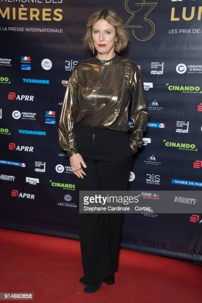 Karine Viard attends the 23rd Lumieres Award Ceremony at Institut du Monde Arabe on February 5, 2018 in Paris, France.