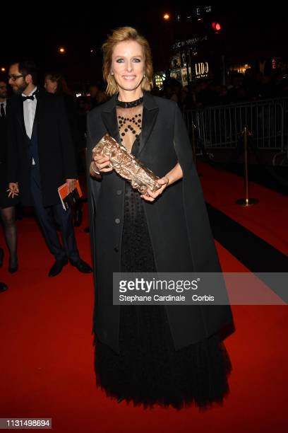 Karine Viard attends the Cesar Film Awards Dinner at Le Fouquet's on February 22 2019 in Paris France