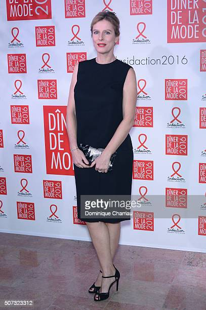 Karine Viard attends the Sidaction Gala Dinner 2016 as part of Paris Fashion Week on January 28, 2016 in Paris, France.