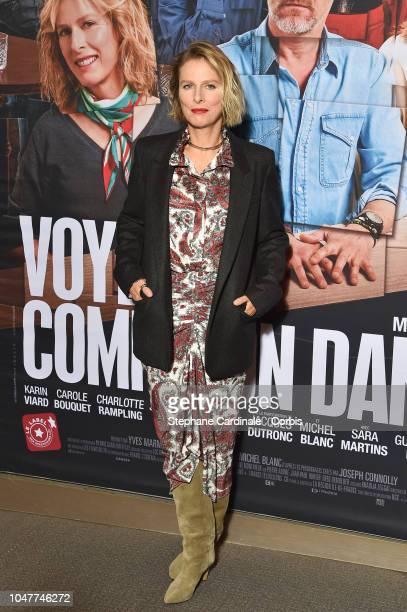 "Karine Viard attends the ""Voyez Comme On Danse"" Paris Premiere at Cinema UGC Normandie on October 8, 2018 in Paris, France."