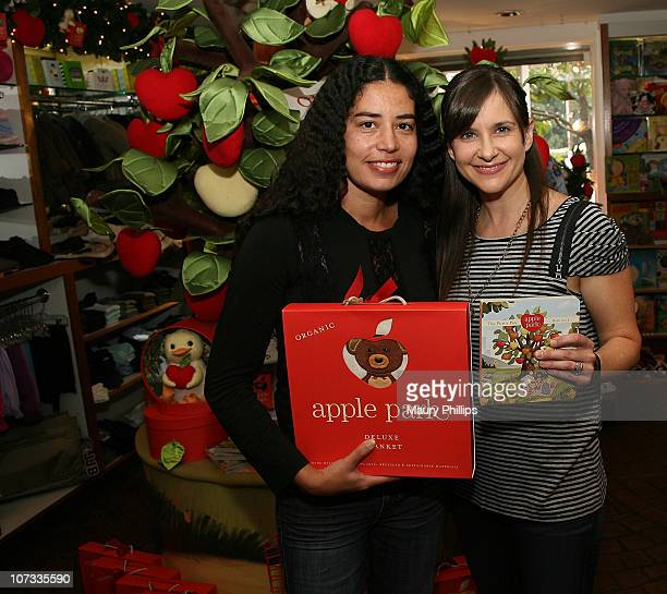 Karis Jagger and actress Kellie Martin attend the holiday celebration with Kellie Martin reading The Newest Children's Book From Ecofriendly Plush...