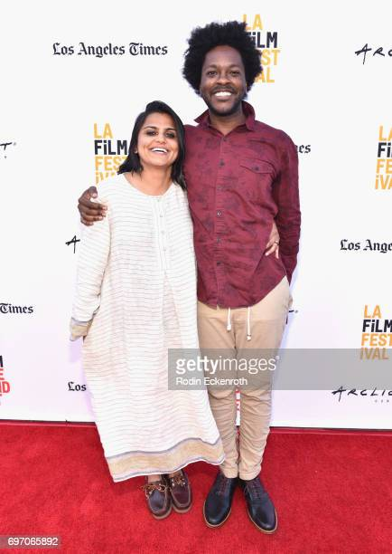 Karishma Dube and Jovan James attend Shorts Program 1 during the 2017 Los Angeles Film Festival at Arclight Cinemas Culver City on June 17 2017 in...