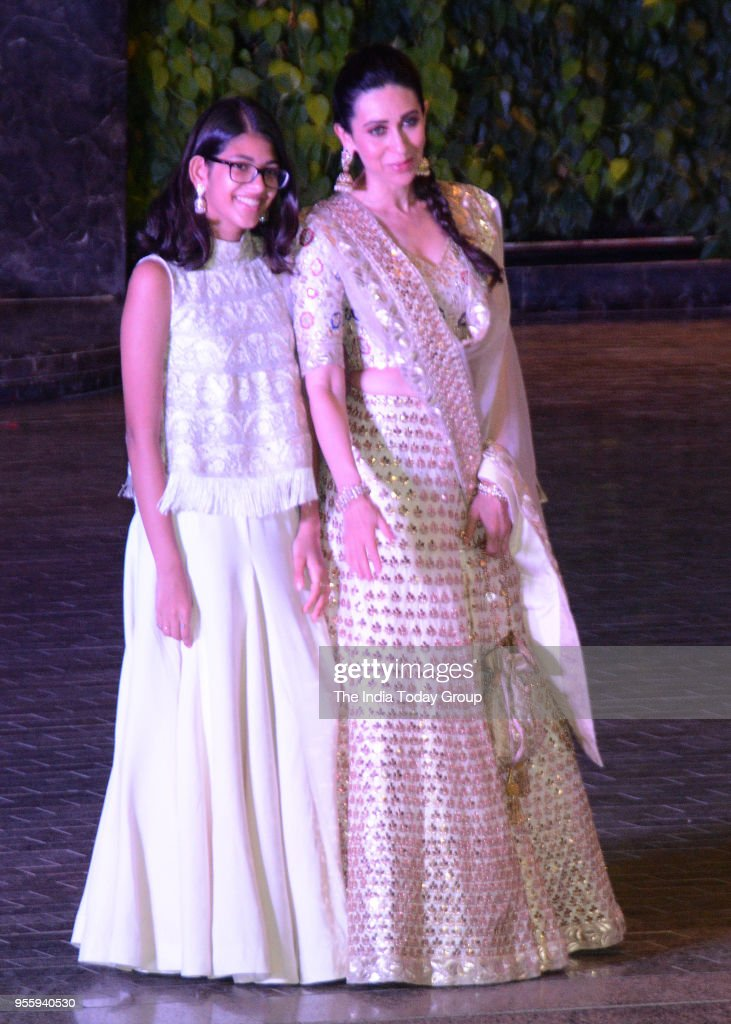 Karisma Kapoor and Samiera Kapoor attends Sonam Kapoor and Anand Ahuja`s Sangeet Ceremony in Mumbai