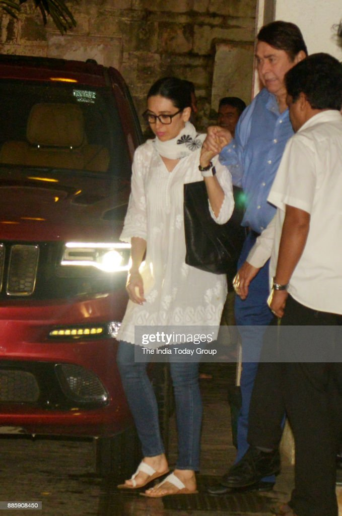 Karisma Kapoor arrives to pay her last respects to Shashi Kapoor at his residence in Mumbai
