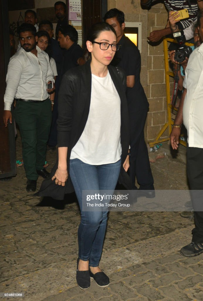 Karisma Kapoor at Anil Kapoor`s House in Mumbai