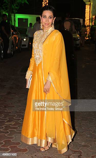 Karisma Kapoor at Shilpa Shettys Diwali party in Mumbai