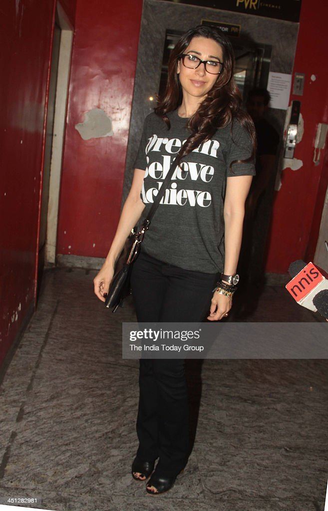 Karisma Kapoor at the screening of the movie Gori Tere Pyaar Mein in Mumbai
