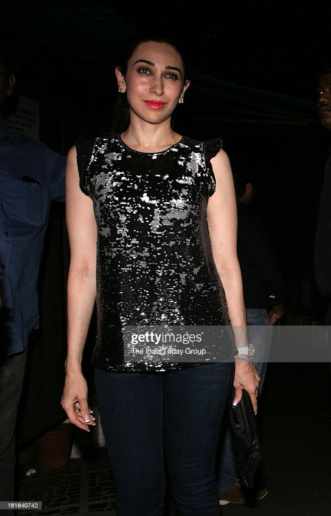 Karisma Kapoor during Chunky Pandeys birthday bash in Mumbai